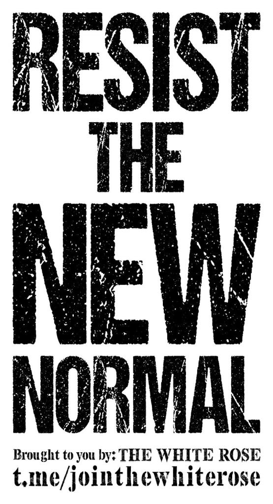 This image has an empty alt attribute; its file name is resistthenewnormal.cleaned.jpg