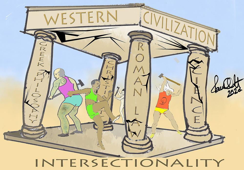 Cartoon: Western Civilization versus Intersectionality